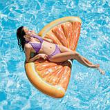 Надувной плот матрас intex ДОЛЬКА АПЕЛЬСИНА 178x85 см пляжный для бассейна и плавания 58763, фото 9