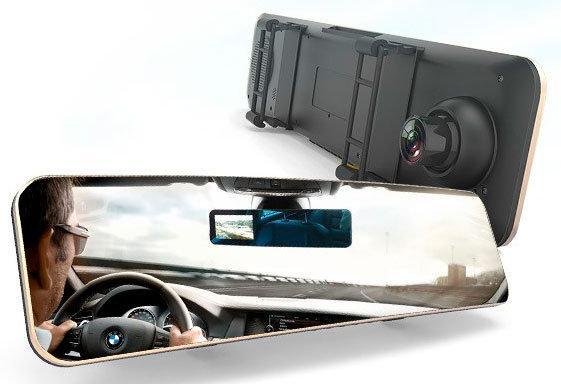 Видеорегистратор - зеркало + камера заднего вида Remax CX-03 1080p