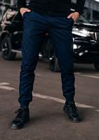 Мужские стильные штаны карго с манжетом синие Осенние, Весенние, Летние Размеры: S, M, L, XL, XXL, XXXL