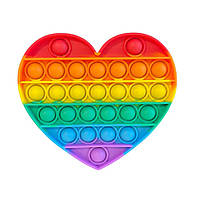 Игрушка-антистресс POP IT форма Сердца Седце радужный попИт Поп-ты поп-ит разные цвета