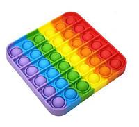 Игрушка-антистресс POP IT квадрат обычный радужный попИт Поп-ты поп-ит разные цвета