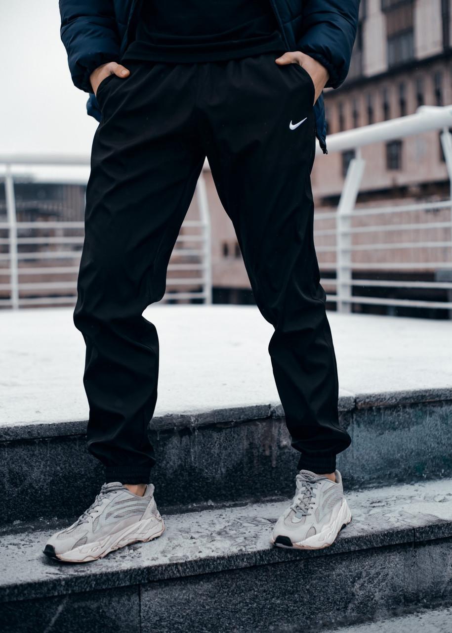 Чоловічі спортивні штани Nike (Найк) чорні осінь весна Розміри: S, M, L, XL, XXL, XXXL