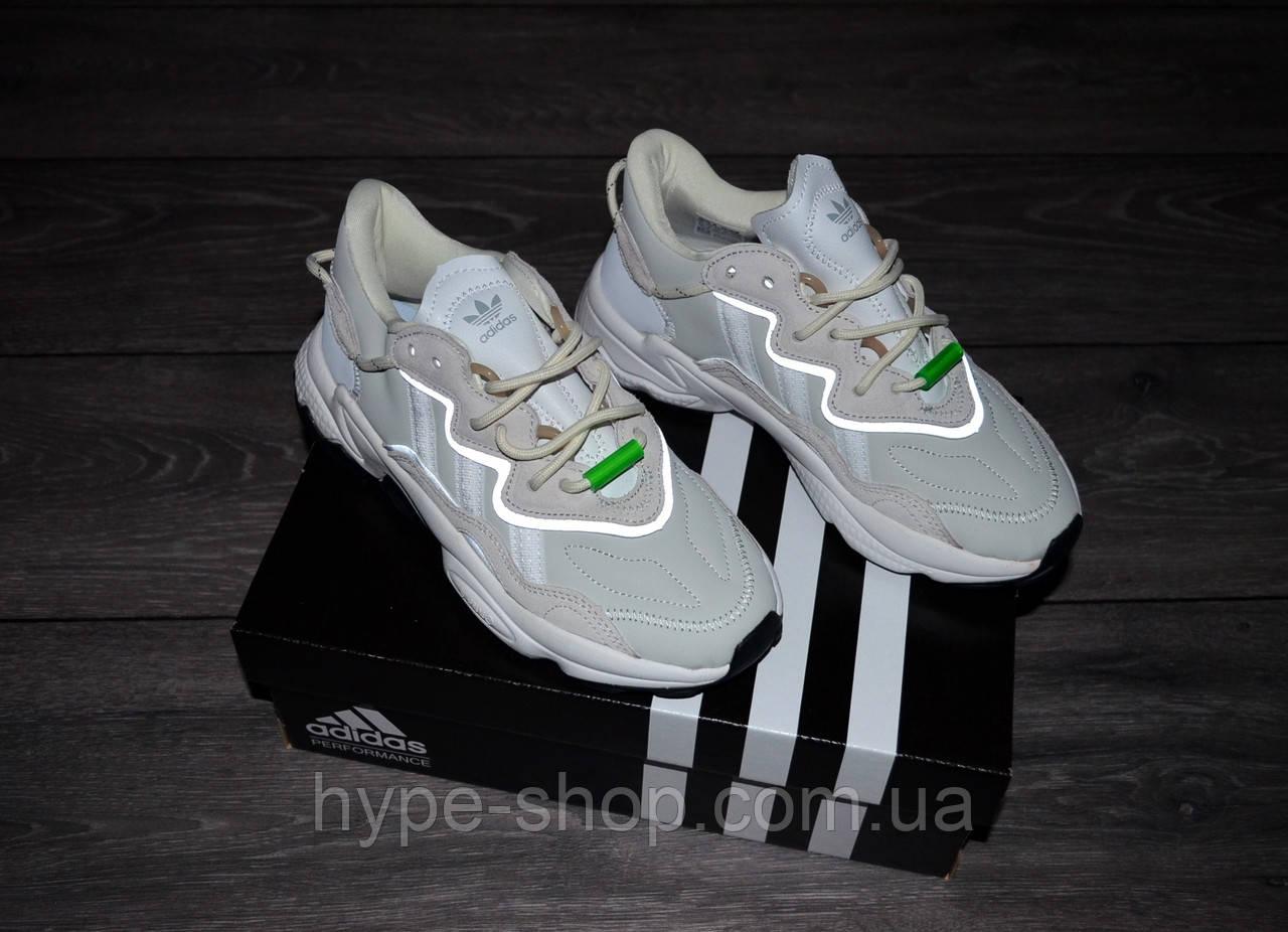 Жіночі кросівки Adidas Ozweego Beige/White адідас озвиго рефлектив