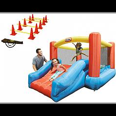 Надувна майданчик Little Tikes Jr. з гіркою Jump'n Slide + конуси AXI 0000000221