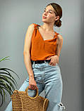 "Женская стильная блузка без рукавов ""Polina"" l Батал, фото 3"