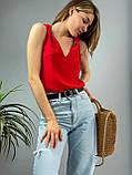 "Женская стильная блузка без рукавов ""Polina"" l Батал, фото 5"