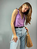 "Женская стильная блузка без рукавов ""Polina"" l Батал, фото 6"
