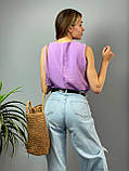 "Женская стильная блузка без рукавов ""Polina"" l Батал, фото 7"