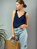 "Женская стильная блузка без рукавов ""Polina"" l Батал, фото 9"
