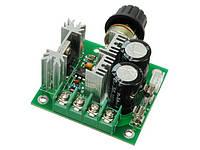 Регулятор скорости двигателя постоянного тока с ручкой 12V-40V 10A PWM
