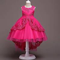 Красивое праздничное платье для девочки Валери цвет фуксия