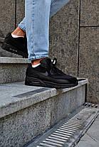Кросівки чоловічі Nike Air Max 90 Triple Black Найк Аір Макс 90 Репліка, фото 2