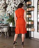 Літнє плаття жіноче Турецький льон Розмір 50 52 54 56 В наявності 4 кольори, фото 3