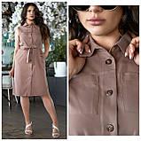 Літнє плаття жіноче Турецький льон Розмір 50 52 54 56 В наявності 4 кольори, фото 4