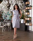 Літнє плаття жіноче Турецький льон Розмір 50 52 54 56 В наявності 4 кольори, фото 6