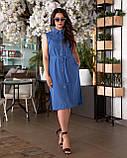 Літнє плаття жіноче Турецький льон Розмір 50 52 54 56 В наявності 4 кольори, фото 7