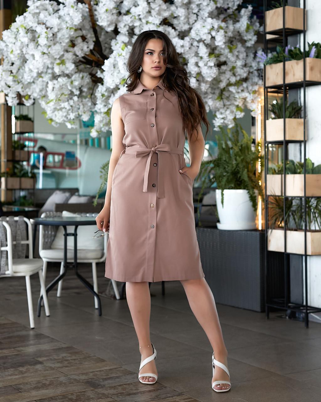 Літнє плаття жіноче Турецький льон Розмір 50 52 54 56 В наявності 4 кольори