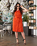 Літнє плаття жіноче Турецький льон Розмір 50 52 54 56 В наявності 4 кольори, фото 8