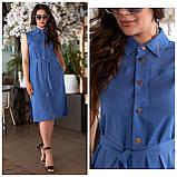 Літнє плаття жіноче Турецький льон Розмір 50 52 54 56 В наявності 4 кольори, фото 9