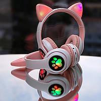 Беспроводные наушники с кошачьими ушками и подсветкой bluetooth Cat STN-28 Светящиеся детские наушники
