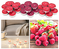 Ароматические свечи-таблетки IKEA SINNLIG 30 шт х 4 часа горения чайные декоративные ягодные ИКЕА СІНЛІГ