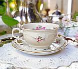 Антикварная фарфоровая чайная двойка, немецкая чашка и  блюдце, Porzellanfabrik Carl Schumann, Германия фарфор, фото 4