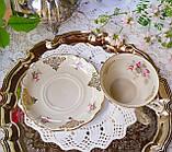 Антикварная фарфоровая чайная двойка, немецкая чашка и  блюдце, Porzellanfabrik Carl Schumann, Германия фарфор, фото 5