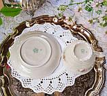 Антикварная фарфоровая чайная двойка, немецкая чашка и  блюдце, Porzellanfabrik Carl Schumann, Германия фарфор, фото 8