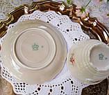 Антикварная фарфоровая чайная двойка, немецкая чашка и  блюдце, Porzellanfabrik Carl Schumann, Германия фарфор, фото 9