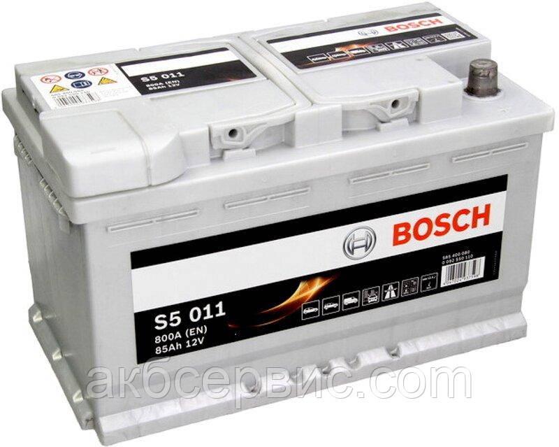 Акумулятор автомобільний Bosch 6СТ-85 S5 Silver Plus (S50 110)