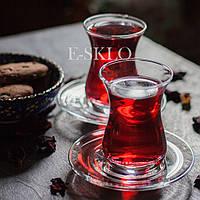 Набор стаканов для чая (армуды) с блюдцем Pasabahce 160 мл