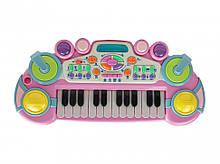 Дитячий синтезатор CY-6032B(Pink), 24 клавіші