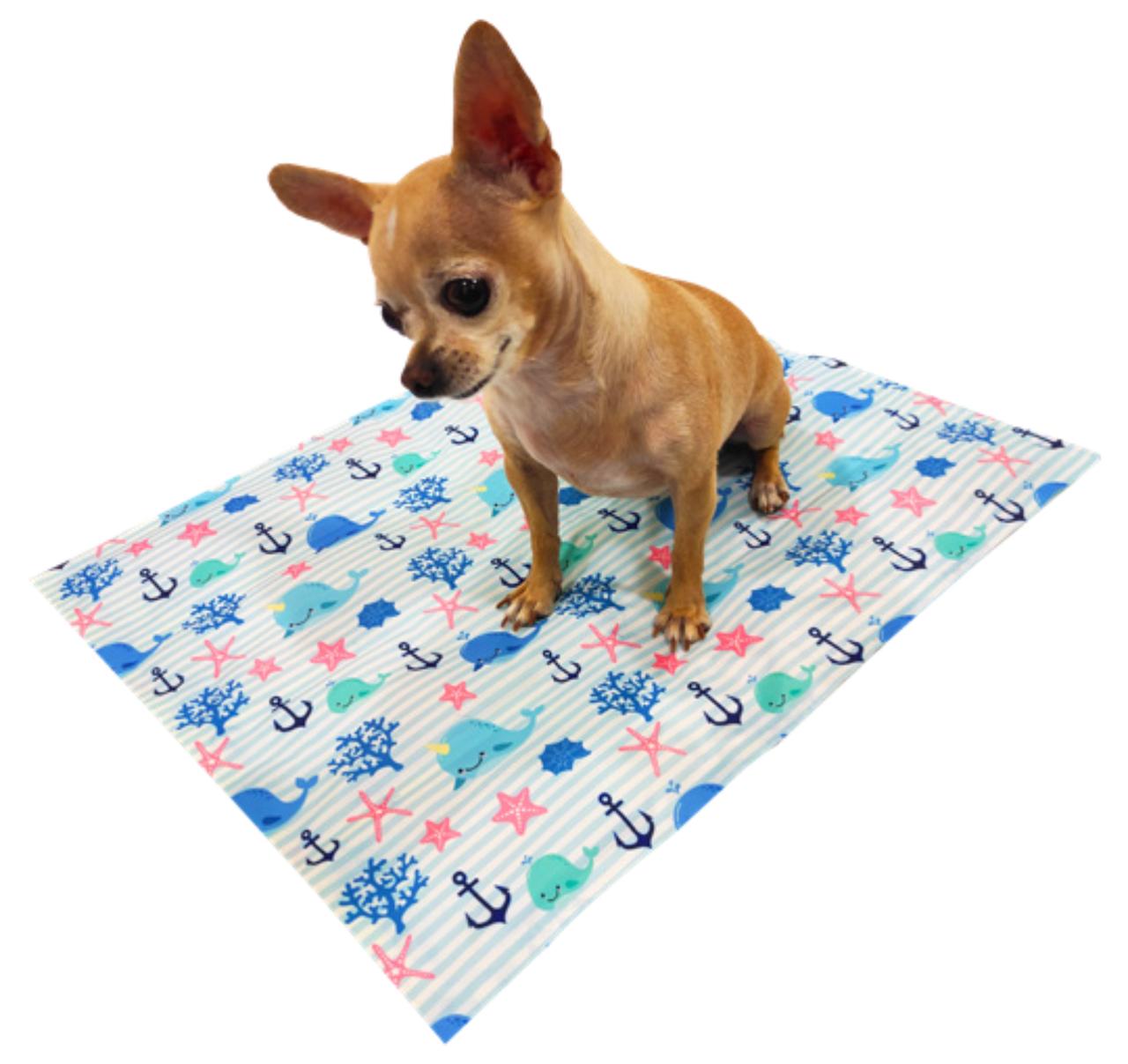 Охлаждающий коврик для собак с принтом Морской Кит 65х50 см, Croci