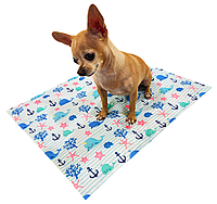 Охолоджуючий килимок для собак з принтом Морський Кіт 90х50 см, Croci