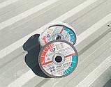 Круг відрізний по металу для болгарки і УШМ 125х1,2х22,23 виробник Запорізький абразивний комбінат, фото 4