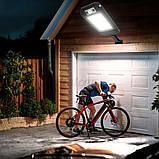 Уличный фонарь-прожектор на солнечной батарее с датчиком движения настенный 10 COB 120 диодов с пультом, фото 10