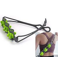 Ручной роликовый массажер для спины, многофункциональный массажер для всего тела.