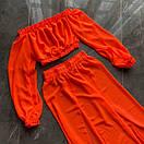 Женский летний шифоновый костюм в оранжевом цвете, фото 5
