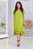 Новинка! Модна сукня вільного крою, є батал, арт. А5427 колір зелений