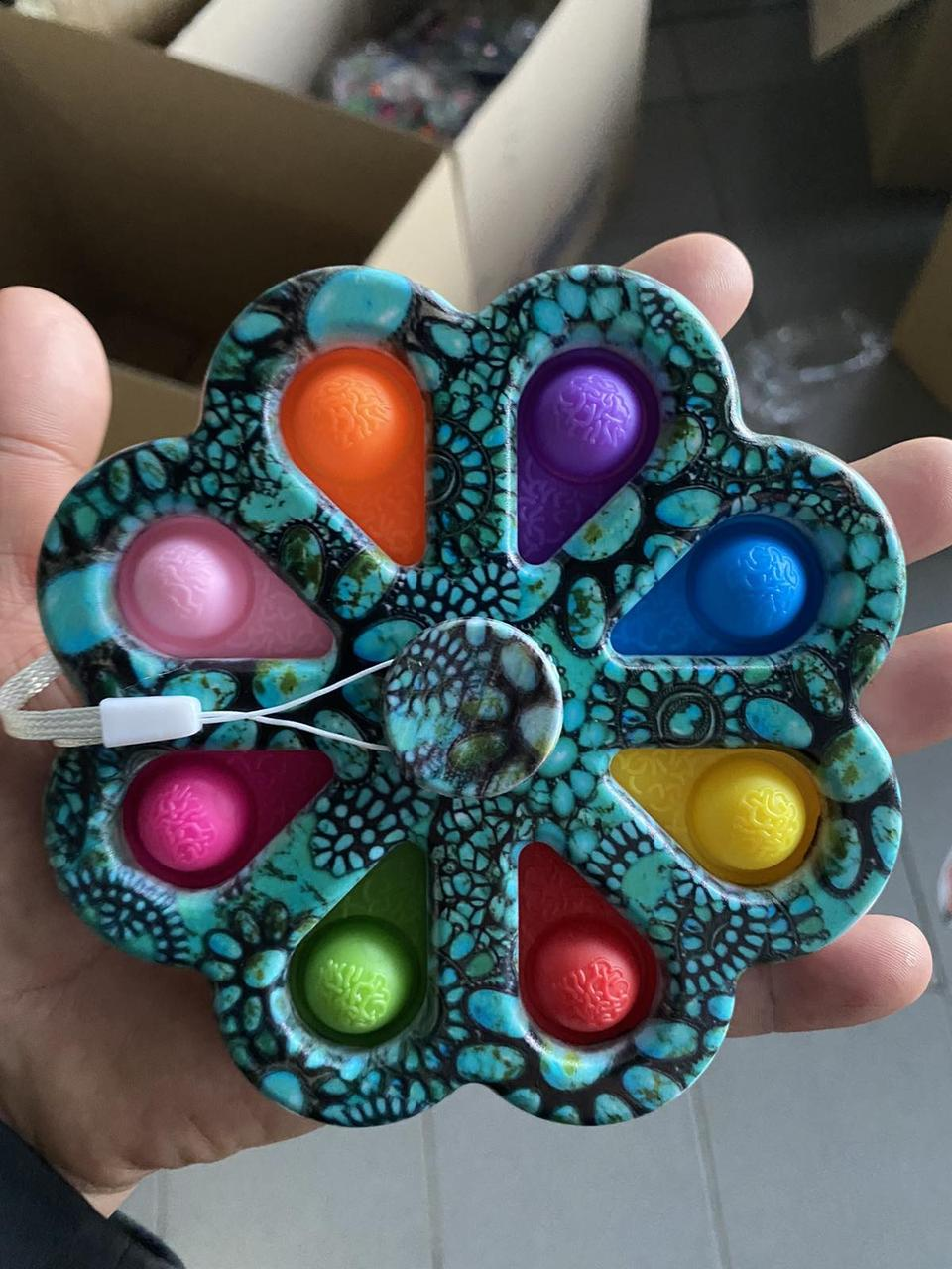 ОПТ! Антистресс Simple Dimple Spinner Цветок