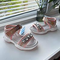 Босоножки сандали розовые нарядные Weestep босоніжки сандалі размер 26 27 28 29 30 31