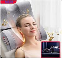 Массажная подушка для шеи и спины роликовая с функцией подогрева и музыкой Paradise Sound