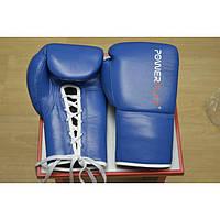Перчатки боксерские Power Play 10oz, синие кожа