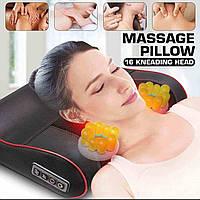 Массажная подушка EDEM, шиацу массажер для спины и шеи, роликовая с прогревом.