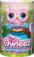Интерактивная игрушка Owleez Овлиз Летающая Сова розовая Spin Master