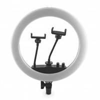 Кольцевая лампа 36 см SY-360 (220В, 28Вт, 2700-6500K, с 2 держателями, пульт)
