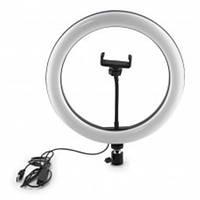 Кольцевая лампа 30 см (12В, 30Вт, 3000-6500K, с держателем)