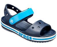 Сандалии на мальчика Crocs Kids Bayaband Sandal C11 р-р 26-27 (стелька 16,5 см) синие (оригинал)