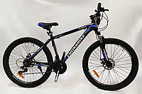 "Велосипед Crossbike Leader 26"" черно-синий"