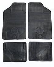 Авто килимки резинові універсальні! Килимки в салон автомобіля (комплект 4 шт.) Чорний. KCM-845
